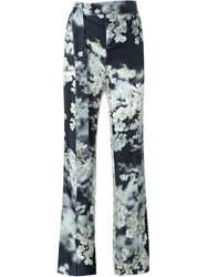 Calvin Klein Collection Floral Print Tailored Trousers Black