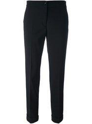 Etro Cropped Tailored Trousers Black