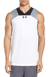 Under Armour Men's 'Select Performance' Fitted Heatgear Tank White