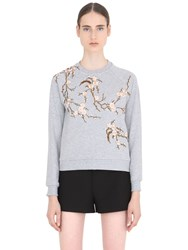 Ainea Floral Embroidered Cotton Sweatshirt