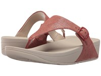 Fitflop The Skinny Lizard Print Spice Women's Shoes Red