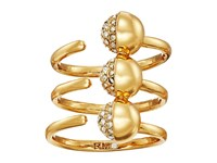 Rebecca Minkoff Triple Pave Ball Ring Gold Crystal Ring