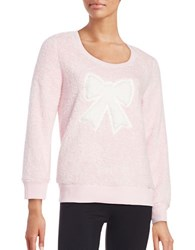 Roudelain Faux Fur Graphic Sweatshirt Pink