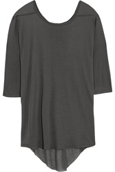 Enza Costa Modal And Cashmere Blend Top Gray