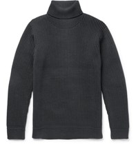 Nonnative Tourist Ribbed Wool Blend Rollneck Sweater Charcoal