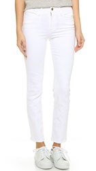 Frame Le High Straight Jeans Blanc