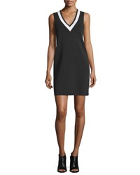 Rag And Bone Ainsley Bicolor Sleeveless Knit Dress Black White