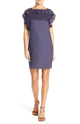 Women's Amanda Uprichard 'Claudette' Ruffle Linen Shift Dress