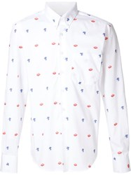 Naked And Famous Naked And Famous Printed Shirt White