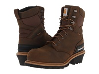 Carhartt Cml8360 8 Wp Composite Toe Logger Boot Crazy Horse Brown Men's Work Lace Up Boots