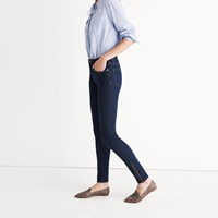 Madewell Et Sezane 9 High Rise Skinny Jeans In Davis Wash Ankle Zip Edition