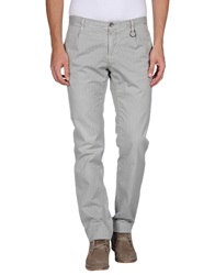 Siviglia White Casual Pants Light Grey