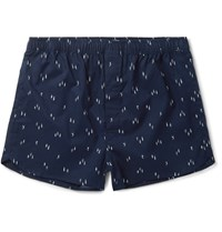 Derek Rose Nelson Cotton Boxers Blue