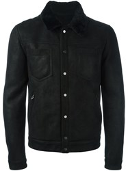 Drome Contrast Collar Buttoned Jacket Black