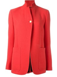 Paul Smith Stand Up Collar Blazer Red