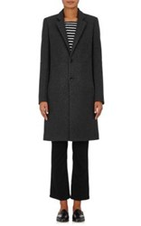 Barneys New York Women's Wool Blend Felt Car Coat Dark Grey