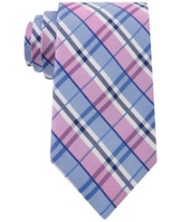 Club Room Men's Seashore Plaid Classic Tie Only At Macy's Pink