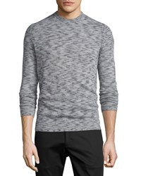 Theory Vetel Space Dyed Cashmere Sweater Charcoal Grey