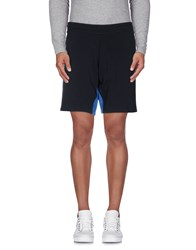 Bikkembergs Trousers Bermuda Shorts Men Dark Blue