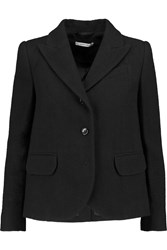 Carven Wool Blend Blazer Black