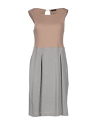 Have A Nice Day Dresses Knee Length Dresses Women Light Grey