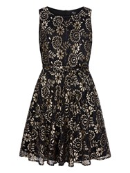Mela Loves London Lace Prom Dress Gold