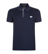 Armani Jeans Contrast Detail Polo Shirt Male Navy