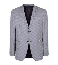 Z Zegna Houndstooth Wool Jacket Male