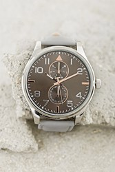Forever 21 Men Chronograph Watch Grey Silver