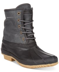 Tommy Hilfiger Men's Collins Waterproof Duck Boots Only At Macy's Men's Shoes Grey Black