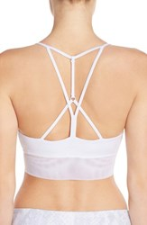 Alo Yoga Women's Alo 'Lush' Strappy Back Sports Bra White Glossy White