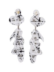 Christopher Kane Crystal Accent Earrings Black