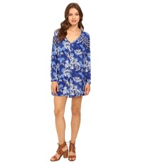 Roxy Metric Match Romper Perpetual Flower Blue Print Women's Jumpsuit And Rompers One Piece