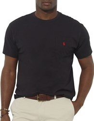 Polo Big And Tall Classic Fit Pocket Crewneck Tee Black