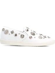 Toga Pulla Studded Slip On Sneakers White