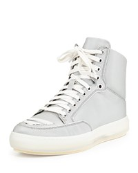 Alejandro Ingelmo Jeddi Pyramid Textured High Top Sneaker Silver Women's