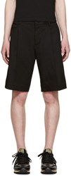 Dolce And Gabbana Black Twill Bermuda Shorts