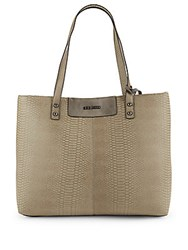 Steve Madden Python Embossed Leather Tote Grey