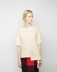 Marni Cascading Hem Blouse Light Yellow