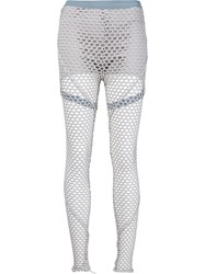 Musee Netted Overlay Leggings Grey