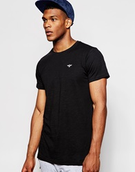 Creative Recreation Slim Fit T Shirt In Slub Jersey Black