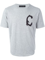 Christian Pellizzari Embroidered 'C' T Shirt Grey