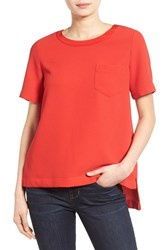 Women's Madewell Short Sleeve Button Back Top