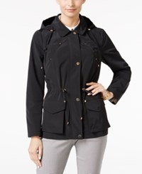 Charter Club Hooded Anorak Jacket Only At Macy's Deep Black