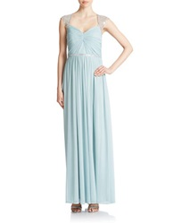 Hailey Logan Beaded Gown Seafoam