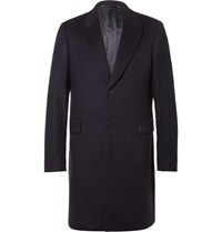 Paul Smith Slim Fit Wool And Cashmere Blend Overcoat Navy
