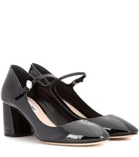 Miu Miu Patent Leather Mary Jane Pumps Black