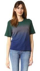 Raquel Allegra Ombre Knit Basic Tee Midnight Dip Dye