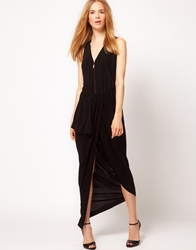 Kore By Sophia Kokosalaki Drape Zip Dress Black