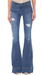 Alice Olivia Ryley Distressed Bell Jeans Bleached Indigo